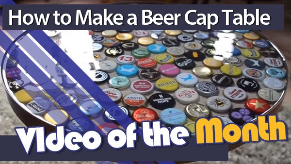 Beer Cap Table with Video